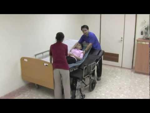 Embedded thumbnail for 仰躺平移轉移位法 床~躺式輪椅